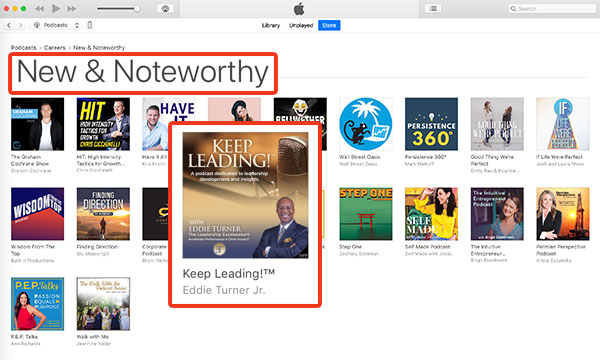 Keep Leading!™ Podcast - Apple New and Noteworthy List