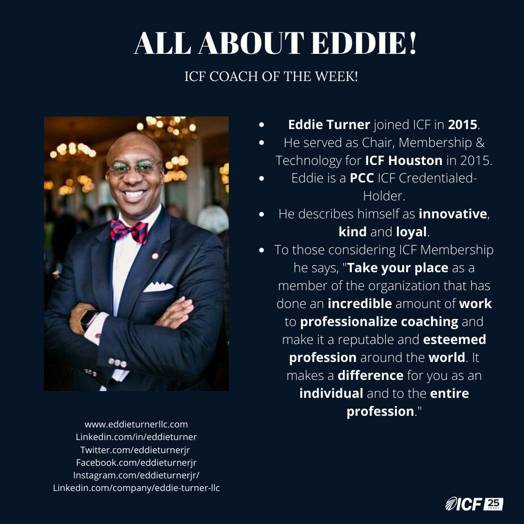 Eddie Turner - ICF Coach of the Week